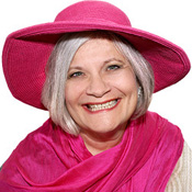 Sue in a pink hat