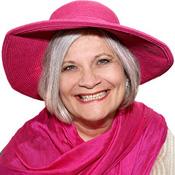 Sue in a pink hat