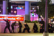 Dallas Police Officers respond to ambush