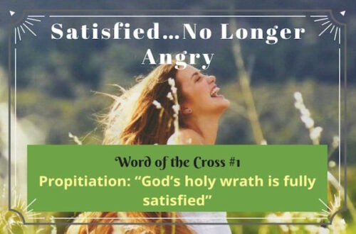 Propitiation-God is satisfied no longer angry