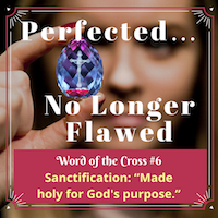 Sanctification means perfected, no longer flawed in God's sight