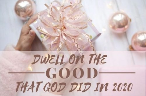 Dwell on the Good that God Did in 2020