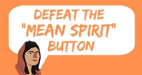 Defeat the Mean Spirit Button-Ephesians 4